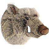 Wagner 8009 - Plüschtrophäe Wildschweinkopf - lebensecht - XL - Plüschtier Trophäe Wildschwein Plüsch