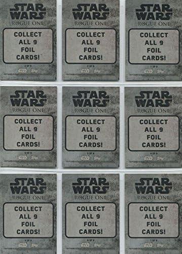 Star Wars Rouge One Mission Briefing Set Character Foil Set 9 Cards