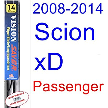 2008-2014 Scion xD Wiper Blade (Passenger) (Saver Automotive Products-Vision Saver) (2009,2010,2011,2012,2013)
