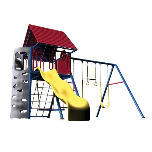 Lifetime 90137 A frame Steel Swing Set