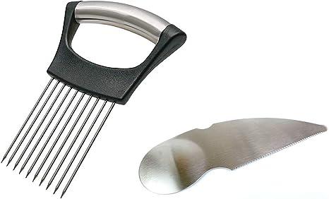 Stainless Steel Onion Holder Vegetable Potato Food Slicer Cutter Peeler Chopp/_ju