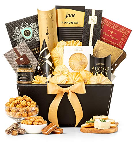 GiftTree Metropolitan Gourmet Gift Basket | Assorted Candy, Pistachios, Dried Pineapple, Cookie Brittle, Toffee Popcorn | Perfect Present for Friends, Family and Clients