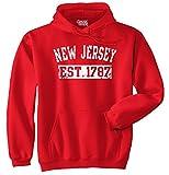 New Jersey State USA American Gift Printed Tee Shirt Gift Ideas Fleece Hoodie