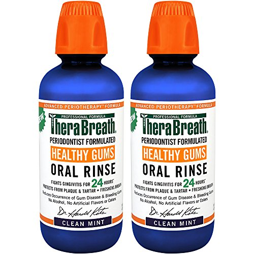 Price comparison product image TheraBreath 24 Hour Healthy Gums Periodontist Formulated Oral Rinse, 16 Ounce (Pack of 2)