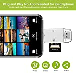 SD Card Reader for iPhone iPad WOPOW Trail and Game Camera Card Reader, 8 Pin Lightning to SD Card Camera Reader Adapter