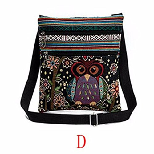 Women Shoulder Bags,Realdo 2018 New Embroidered Cartoon Owl Tote Bags Pillow Handbags Ladies Satchel