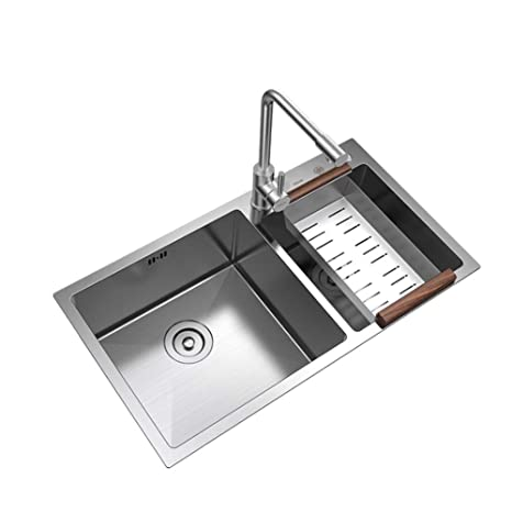 XUE-tap Juego de lavamanos de Cocina, Acero Inoxidable 304 ...