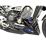 320-Y119-703 Sabot moteur en maille pour Yamaha MT-09 15/FJ-09 Compatible avec les protections de moteur Yamaha Noir/bleu