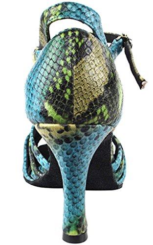 Chaussures Très Fines Salsera Série 1154 2.5 Bleu Et Vert Serpent