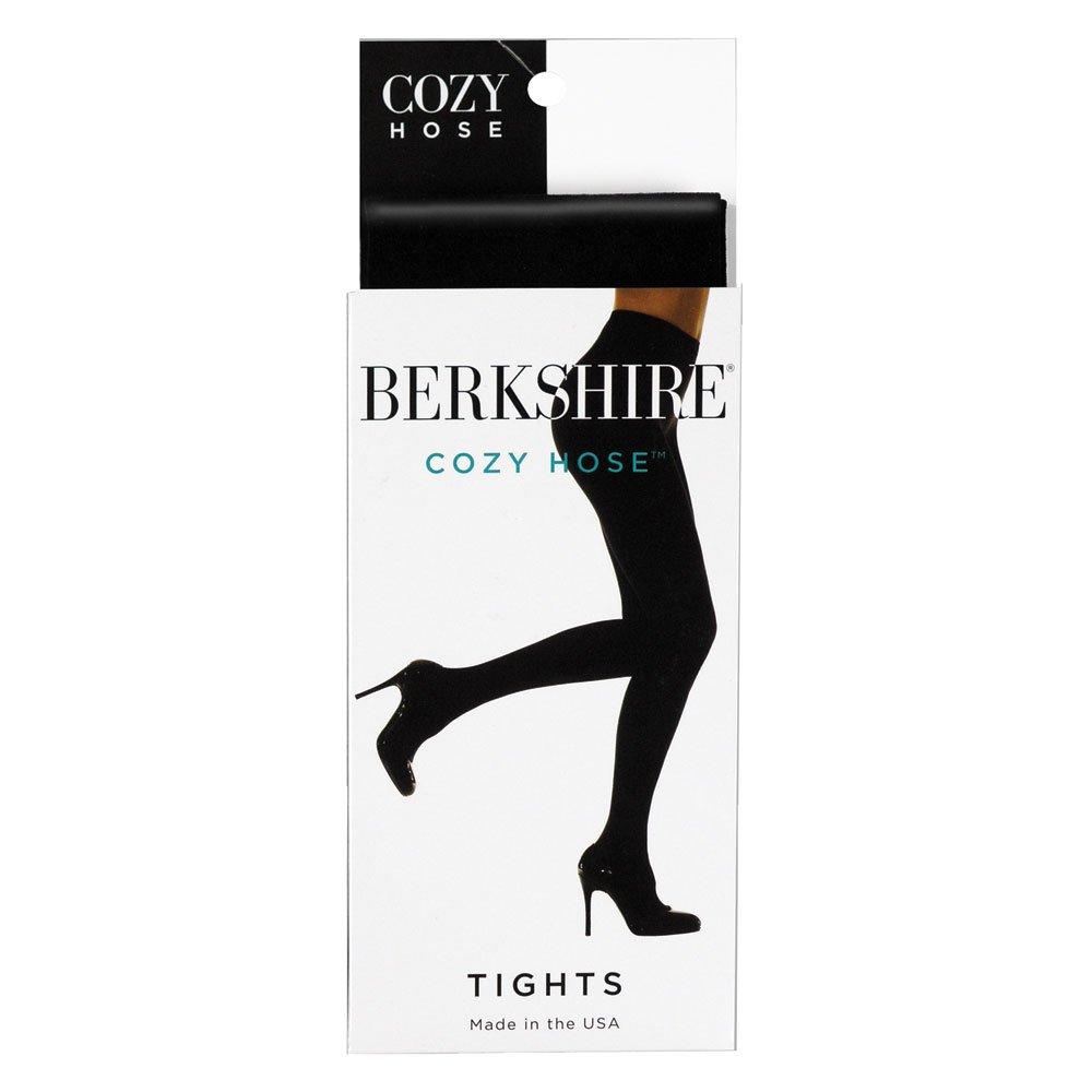 Berkshire Women's Cozy Tight with Fleece Lined Leg, Black, Petite