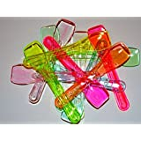 100 mixed neon plastic spoons 95 mm long ( colour may vary from pictures )