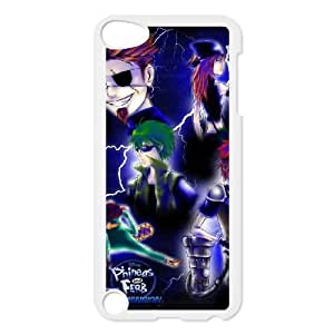 iPod Touch 5 Case White Phineas & Ferb Across the 2nd Dimension 07 Bkwwb