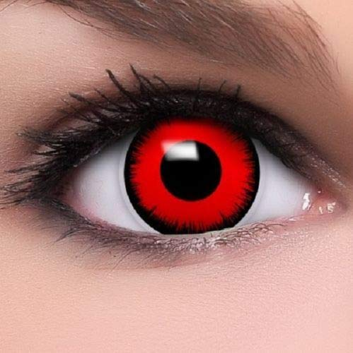 Oanono Multi-Coloured Contact Lenses Kontaktlinsen Color Contacts Lens Color Halloween 1 Pair With A Contact Lens Case -