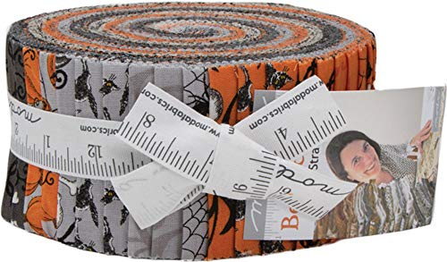 Moda Deb Strain Bewitching Halloween Jelly Roll 40