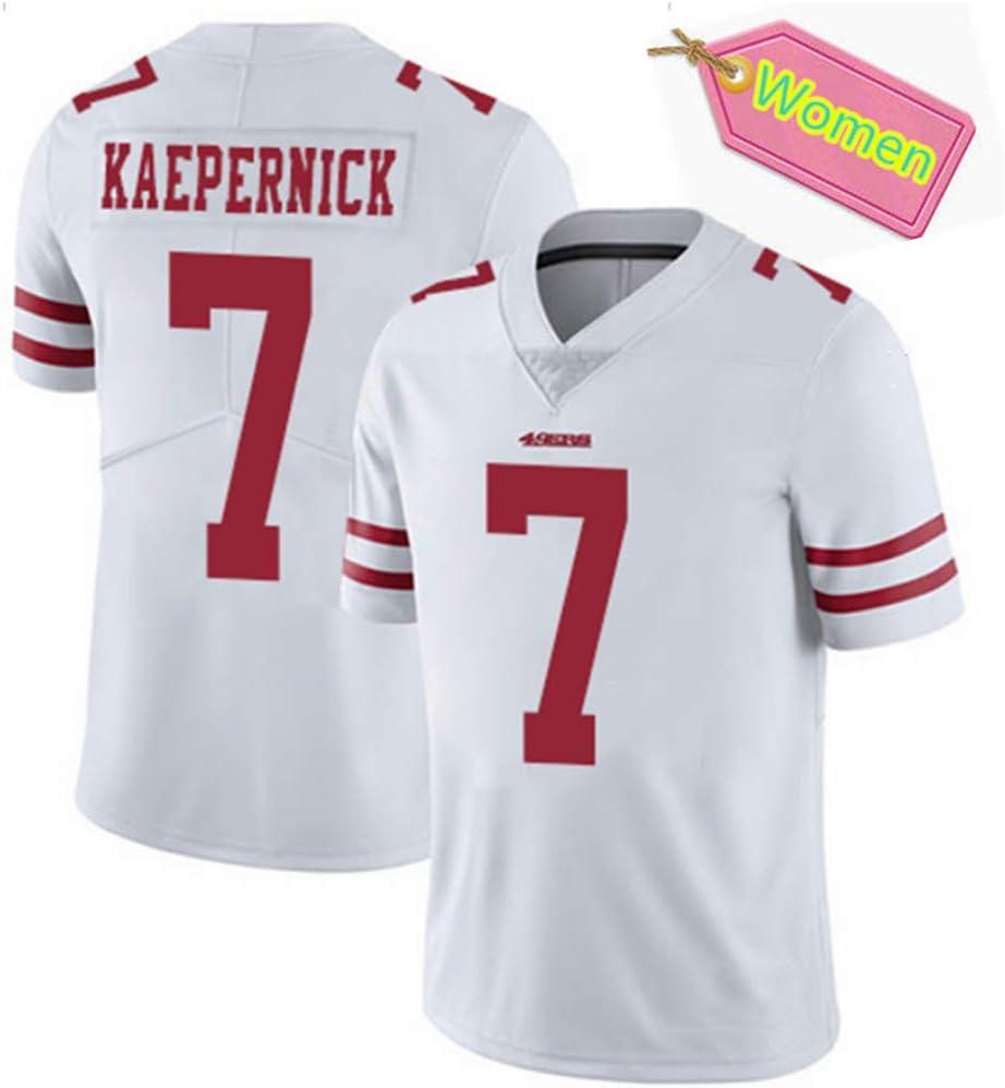 San Francisco 49Ers Colin Kaepernick Football Sweatshirt Entspannte T-Shirts 100/% Polyester-black-3XL American Football Jersey Frauen