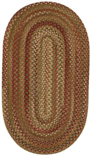 Capel Rugs Manchester Oval Braided Area Rug, 2 x 4