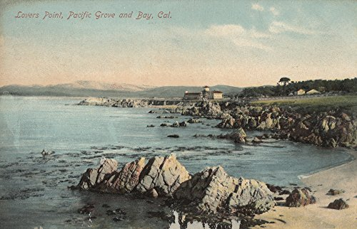 Pacific Grove, CA - Lovers Point, Pacific Grove, and Bay (9x12 Art Print, Wall Decor Travel Poster)