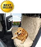 Elegance Linen Diamond Design %100 Waterproof Premium Quality Micro-Suede Bench Car Seat Protector Cover (Entire Rear Seat) for Pets – TIES TO STOP SLIPPING OFF THE BENCH , Beige/Cream For Sale