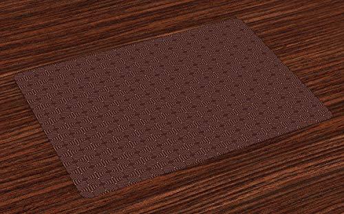 ABAKUHAUS Abstracto Salvamantel Set de 4 Unidades, Las Formas hexagonales con los Puntos, Material Lavable Decoracion para Mesa Cocina, Castano Oscuro palido Camel