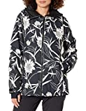 Billabong Women's Sula Insulated Snow Jacket, Black Floral, XS
