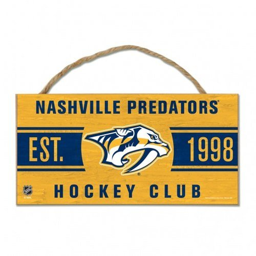 Wincraft NHL Nashville Predators WCR39365014 Wood Sign with Rope, 5