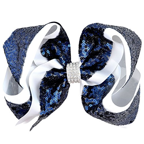 - Special Beauty Nice 8 inch Rhinestone Big Large Hair Bow Sequins Ribbon Hairgrips With Alligator Clips Headwear Bowknot Women/Girls Hair Accessories