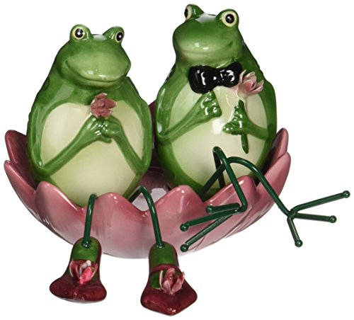 Appletree Design Alfrogo and Frogalina Frog Salt and Pepper Set, 3-1/4-Inch, 3-Piece by Appletree Design