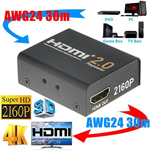 2160P 3D 4K HDMI Signal Repeater Extender Booster Adapter Over Signal HDTV 60 Meters Lossless Transmission by KSRplayer (Image #5)