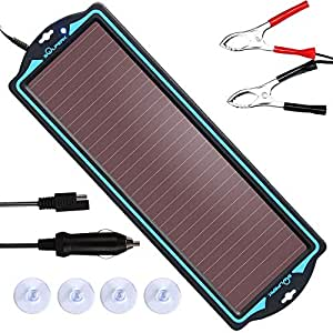 12V solar battery tender,solar trickle charger,Solar Battery Charger and Maintainer, Suitable for Automotive, Motorcycle, Boat, Atv,Marine, RV, ...