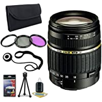 Tamron AF 18-200mm f/3.5-6.3 XR Di II LD Aspherical (IF) Macro Zoom Lens for Nikon Digital SLR Cameras + 62mm 3 Piece Filter Kit + Lens Cap Keeper + Deluxe Starter Kit DavisMax Bundle