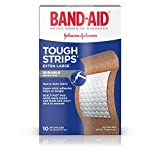 Band-Aid Brand Adhesive Bandages, Tough-Strips, Extra Large (1.75-Inch Wide), 10 Count (Pack of 2)