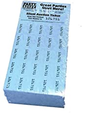 Chinese Auction Tickets -- 250 Sheets Blue -- Raffle Fundraiser -- Penny Auction -- Tricky Tray -- Silent Auction Tickets