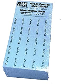 chinese auction tickets 250 sheets blue raffle fundraiser penny auction
