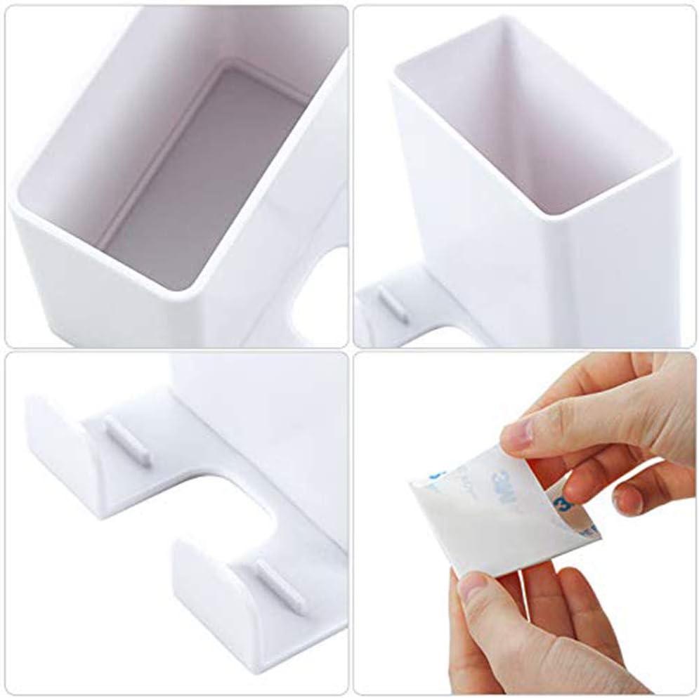 ABS Montaje en La Pared con Gancho Caja Organizadora para Soporte Carga para Tel/éfono M/óvil Caja Almacenamiento para Control Remoto 3 Piezas Caja Almacenamiento Control Remoto 3 Colores