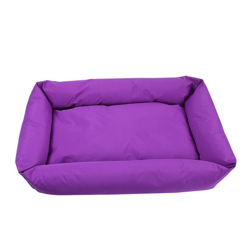 Purple Small Purple Small HeiPlaine Pet Sofa Kennel Washable Four Seasons Universal Pet Supplies Cat Nest Resistance To Bite Sofa Cushion (color   Purple, Size   Small)