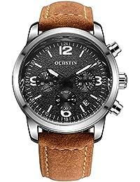 Men's Fashion Quartz Chronograph Waterproof Watches...