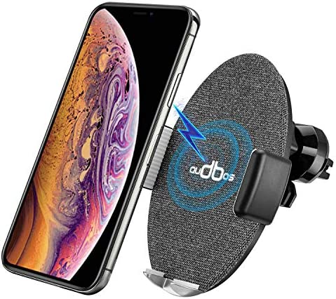 Automatic Clamping Wireless Car Charger Mount, AUDBOS Car Wireless Charger for iPhone Xs Max XR XS X 8 8 Plus Samsung Galaxy S9 S8 S7 Note 8 9 Accessories,Qi-Enabled Phones,Wireless Charger Car Black