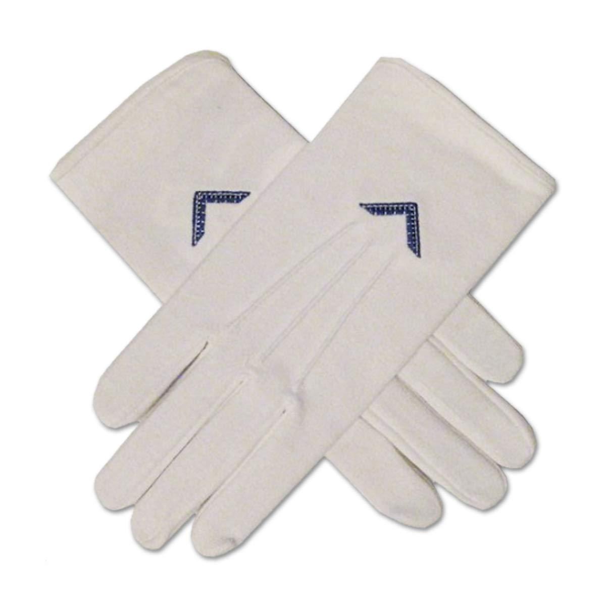 Masonic Royal Arch Hand Embroidered Freemason White Gloves