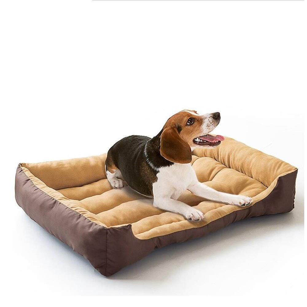 Brown S 45x32cm Brown S 45x32cm SHYPwM Warming Dog Bed Pet House Soft Suede Pet Nest Dog Fall and Winter Warm Nest Kennel for Cat Puppy Plus Size Drop Shipping (color   Brown, Size   S 45x32cm)