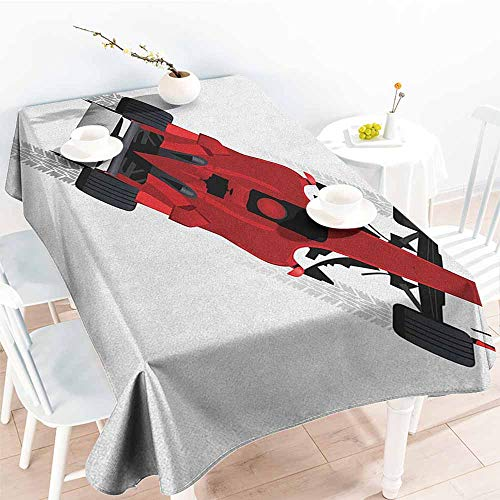 familytaste Cars,Tablecloth Covers for Home Supply Formula Car on Speedway Championship Fast Performance Rally Strong Vehicle 54