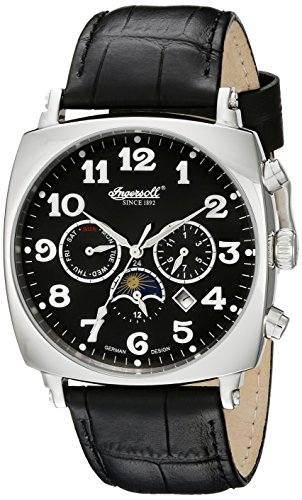 Ingersoll Men's 1211BK Corondo Black Stainless Steel Watch