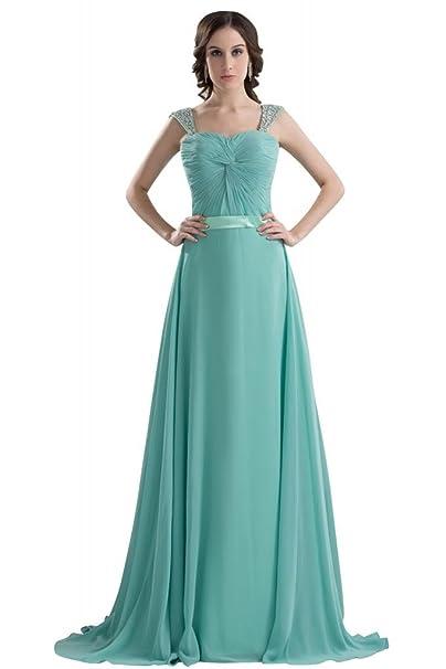George Bride goddness correas de vestido de fiesta con lentejuelas de colores Azul azul 46