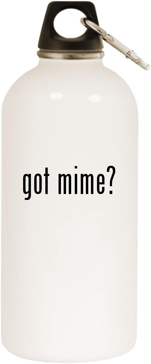 Molandra Products got Mime? - White 20oz Stainless Steel Water Bottle with Carabiner