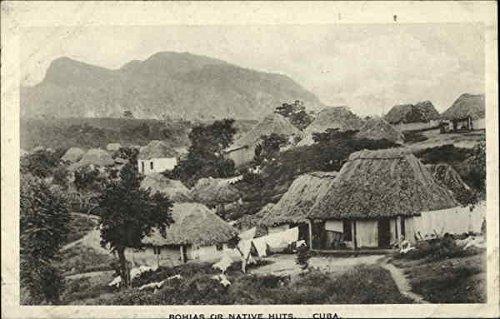 Native Huts Cuba Cuba Original Vintage Postcard