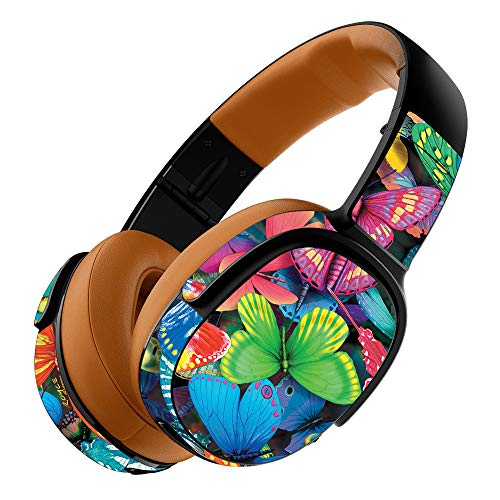 MightySkins Skin Compatible with Skullcandy Crusher 360 Wireless Headphones - Butterfly Party | Protective, Durable, and Unique Vinyl wrap Cover | Easy to Apply, Remove | Made in The USA