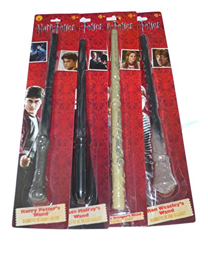 (Set of 4) Harry Wand Asst 4 Wands Harry, Draco, Hermoine & (Hermoines Wand)