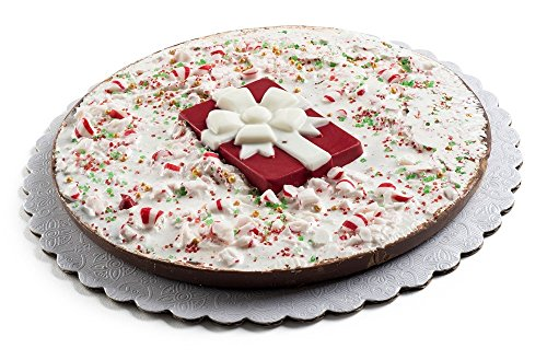 (Premium Fresh Dark Praline Christmas Holiday Chocolate Gift Pie with Decorative Peppermint Candy Topping (7 Inch))