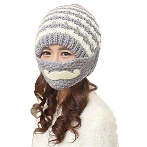 Tuscom Women Winter Beard Beanies