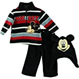 Disney Mickey Mouse ''Mickey'' Toddler 3 Piece Zipper Top, Hat & Pant Set (4T)