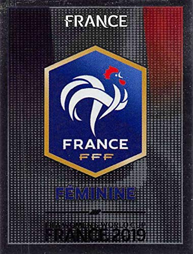 2019 Panini FIFA Women's World Cup France Album Stickers Soccer #24 France Team Logo France Foil 2 Inch by 2 1/2 Inch Collectible Sticker